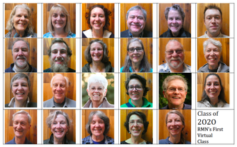 array of head shots of volunteers in training