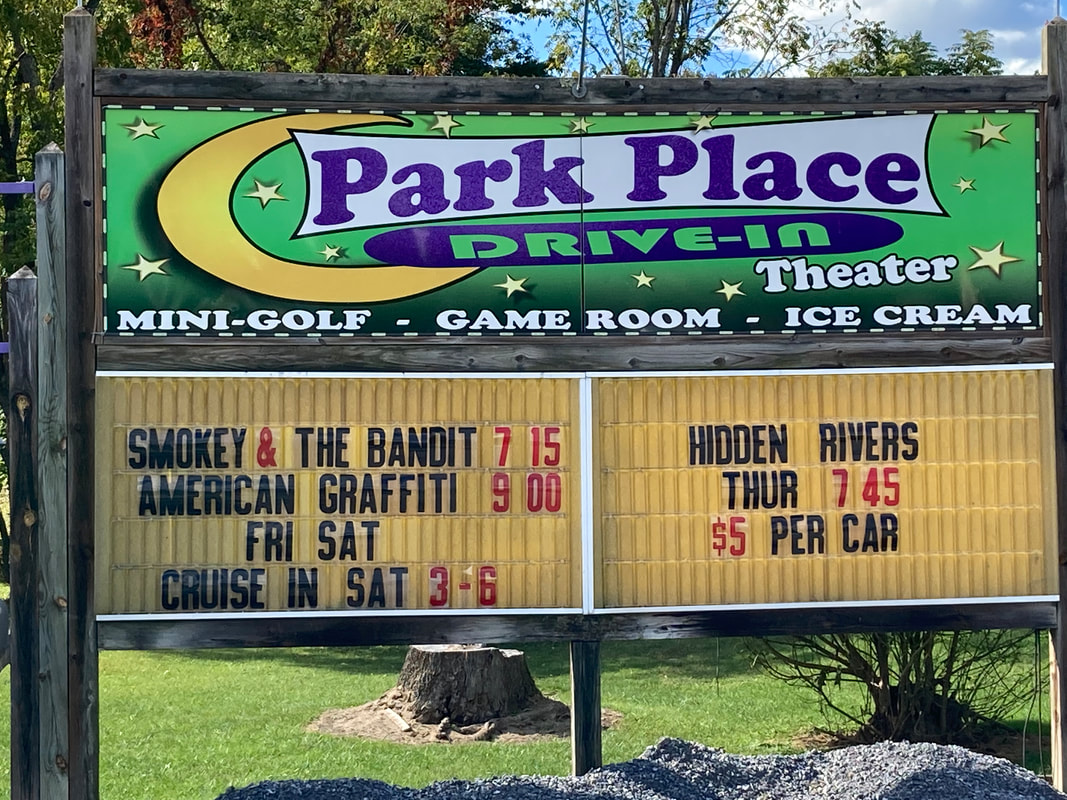 drive-in theater sign with